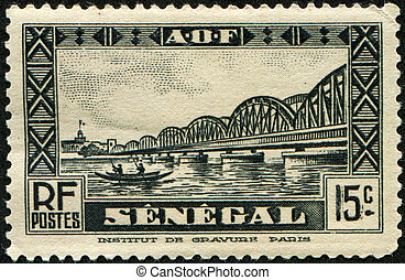 SENEGAL - CIRCA 1935: A stamp printed in Senegal shows...