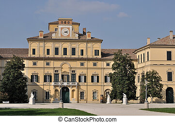 ducale palace, parma - view of farnese palace and his park...