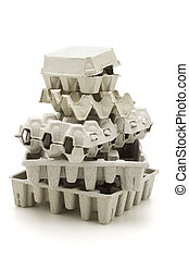 Recycled paper carton
