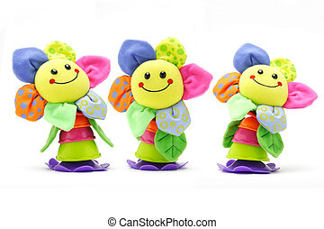 Sunflower smiley face dolls - Three sunflower smiley face...