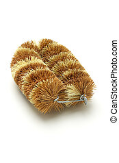 Natural coconut fiber brush - Biodegradable cleaning brush...