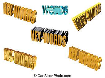 key word set in 3d