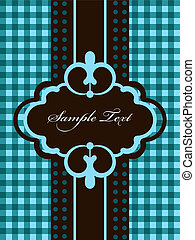 Greeting card - Vector vintage blue greeting card
