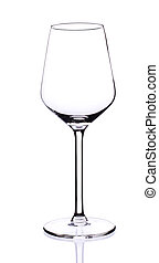 Wine glass isolated - Empty wine glass isilated on white