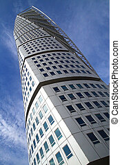 Turning Torso Building - Upward view of the Turning Torso...