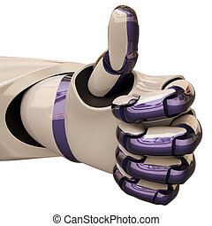 """okay - robot hand gesture meaning """"okay"""". with clipping..."""