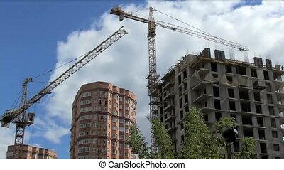 crane build a house