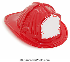 Plastic Toy Fire Fighter Hat - Red plastic toy fire fighter...