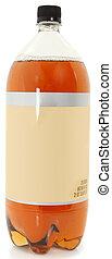 Blank Label Bottle of Soda - 2 Liter bottle of soda over...