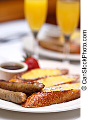 Sunday Brunch - Sunday brunch with French toast, applewood...