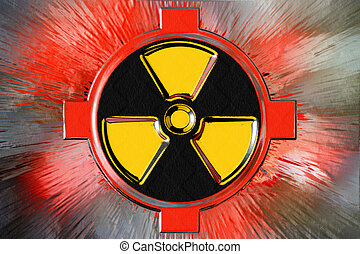 radiation danger - abstract scene as background radiation...