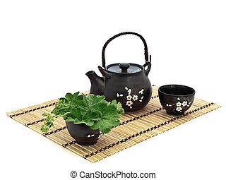 chinese tea ceremony - Table serving for chinese tea...