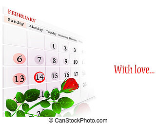 Valentine day theme with rose and copyspace