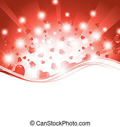 valentine template - valentine wavy template with hearts and...