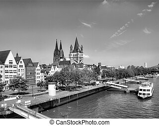 Koeln - View of the city of Koeln Cologne in Germany - high...