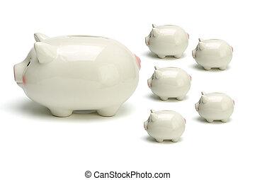 銀行, 小豬