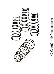 Metal spring coils - metal spring coils on white background