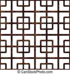 Old rusty lattice. - Seamless. Old rusty lattice. Best for...