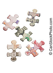 Jigsaw puzzles and world major currencies - Jigsaw puzzles...