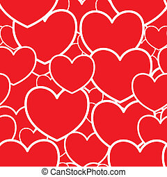 Abstract red background with hearts - Valentines day...