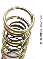 Metal spring coils arranged one inside another