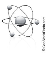 Atom symbol - illustration of atom icon isolated on white...
