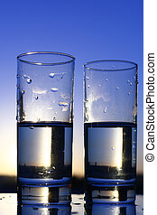 clean water - clean cold water in glass