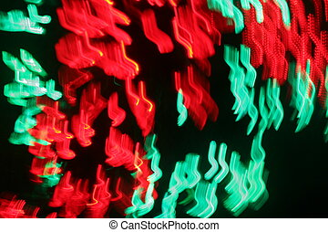 Red and Green Light Blur