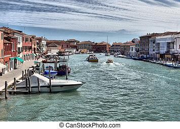 Murano, Venice - The town of Murano near Venice (Venezia),...