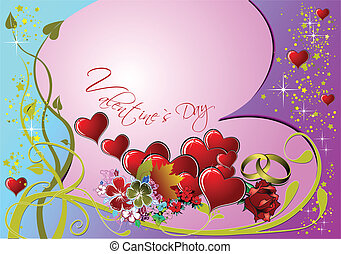 Valentine`s day. 14 February. Wedding Greeting Card....