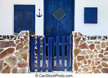 Greek traditional house - Exterior of a traditional house in...
