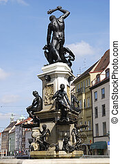 Hercules Fountain in Augsburg Bavaria, Germany