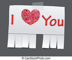 Advertisement with the words - Ad that says I love you Heart...