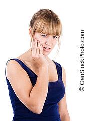 Brunette Woman in Pain