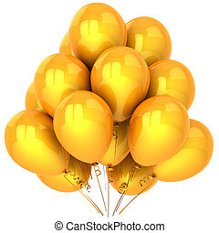 Party balloons total yellow