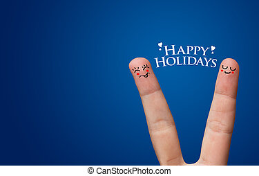 Happy finger hug