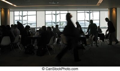 People in a hall at conference CEPIC in Dublin, Ireland. -...