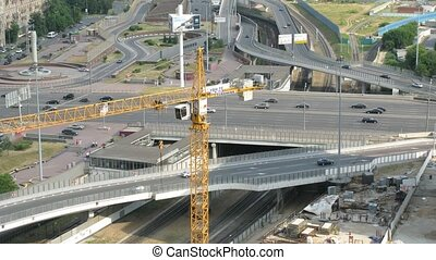 Crossroad of The Third Ring Road and Kutuzovsky Prospekt in...