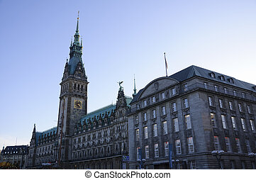 Hamburg, Germany - Town Hall in Hamburg, Germany, Taken in...