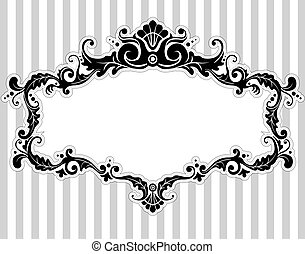 Victorian Frame - Illustration of a Frame with a Victorian...