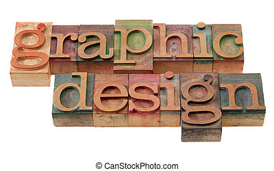 graphic design in letterpress type - graphic design word...