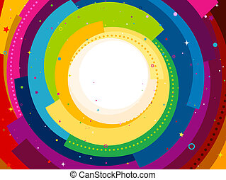 Spiral Background - Funky Background Featuring Rainbow...