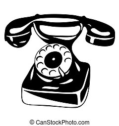 old analogue phone - vector