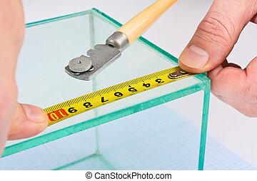 Glazier - glazier glass measuring tape measure