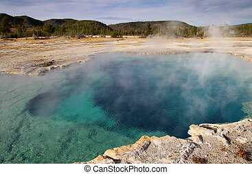 Yellowstone national park - Geothermal activity in...