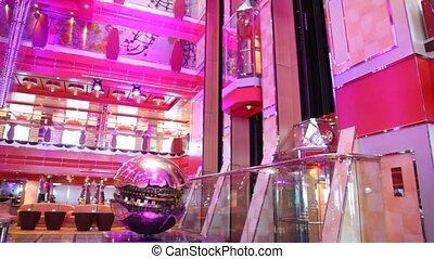majestic Sphere by Arnaldo Pomodoro in Hall on Costa Deliziosa - cruise ship