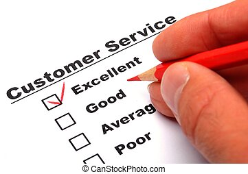 satisfaction survey showing marketing concept to improve...
