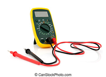 Multimeter with cables - Multimeter for a measurement of a...