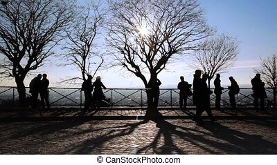 people picture taken and looks at Paris from Montmartre...