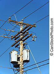 Electrical post and transformers - Transformers of an...